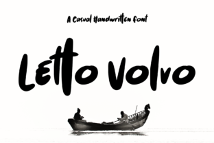 Print on Demand: Letto Volvo Display Font By aldedesign