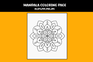 Print on Demand: Mandala Coloring Page Graphic Coloring Pages & Books Kids By infinity360 2