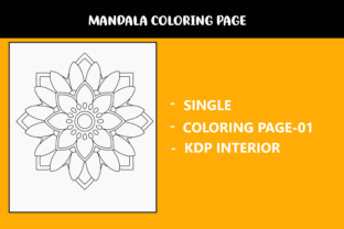 Print on Demand: Mandala Coloring Single Page Graphic Coloring Pages & Books Kids By infinity360 1