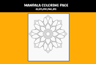 Print on Demand: Mandala Coloring Single Page Graphic Coloring Pages & Books Kids By infinity360 2