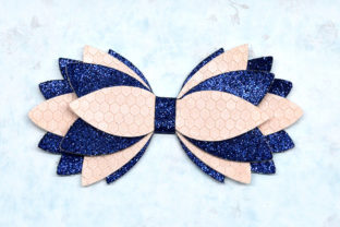 Multilayer Hair Bow Template Graphic 3D SVG By ArtiCuties