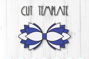 Multilayer Hair Bow Template Graphic 3D SVG By ArtiCuties 2
