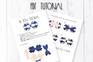 Multilayer Hair Bow Template Graphic 3D SVG By ArtiCuties 3