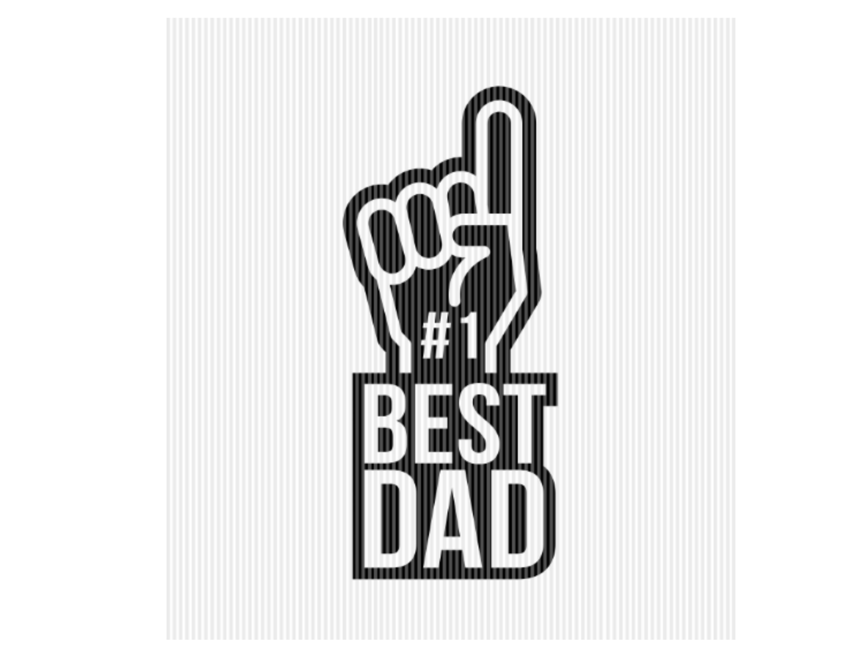 Number 1 Best Dad Father's Day Graphic SVG File