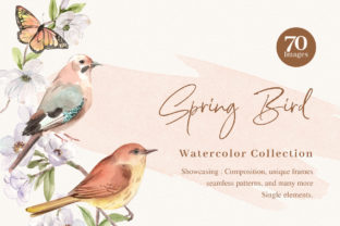 Spring Birds of Spring Watercolor Graphic Illustrations By WatercolorEps 1