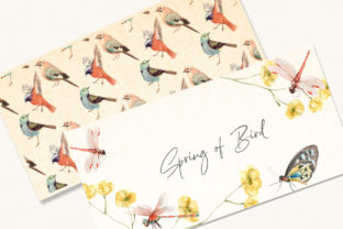 Spring Birds of Spring Watercolor Graphic Illustrations By WatercolorEps 3