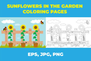 Sunflowers in the Garden Graphic Coloring Pages & Books Kids By Kids Zone