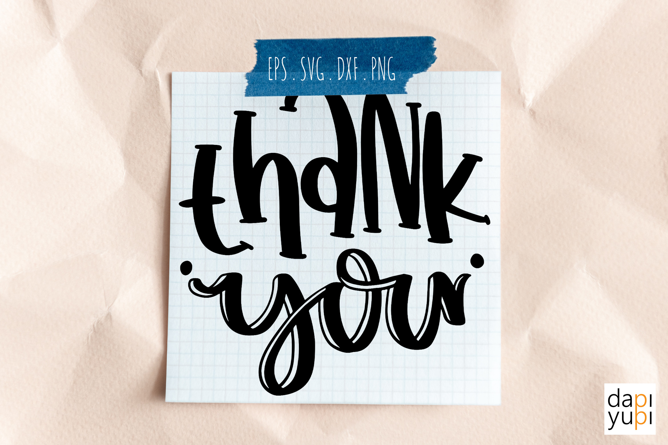 Thank You Round Lettering SVG Cut File SVG File