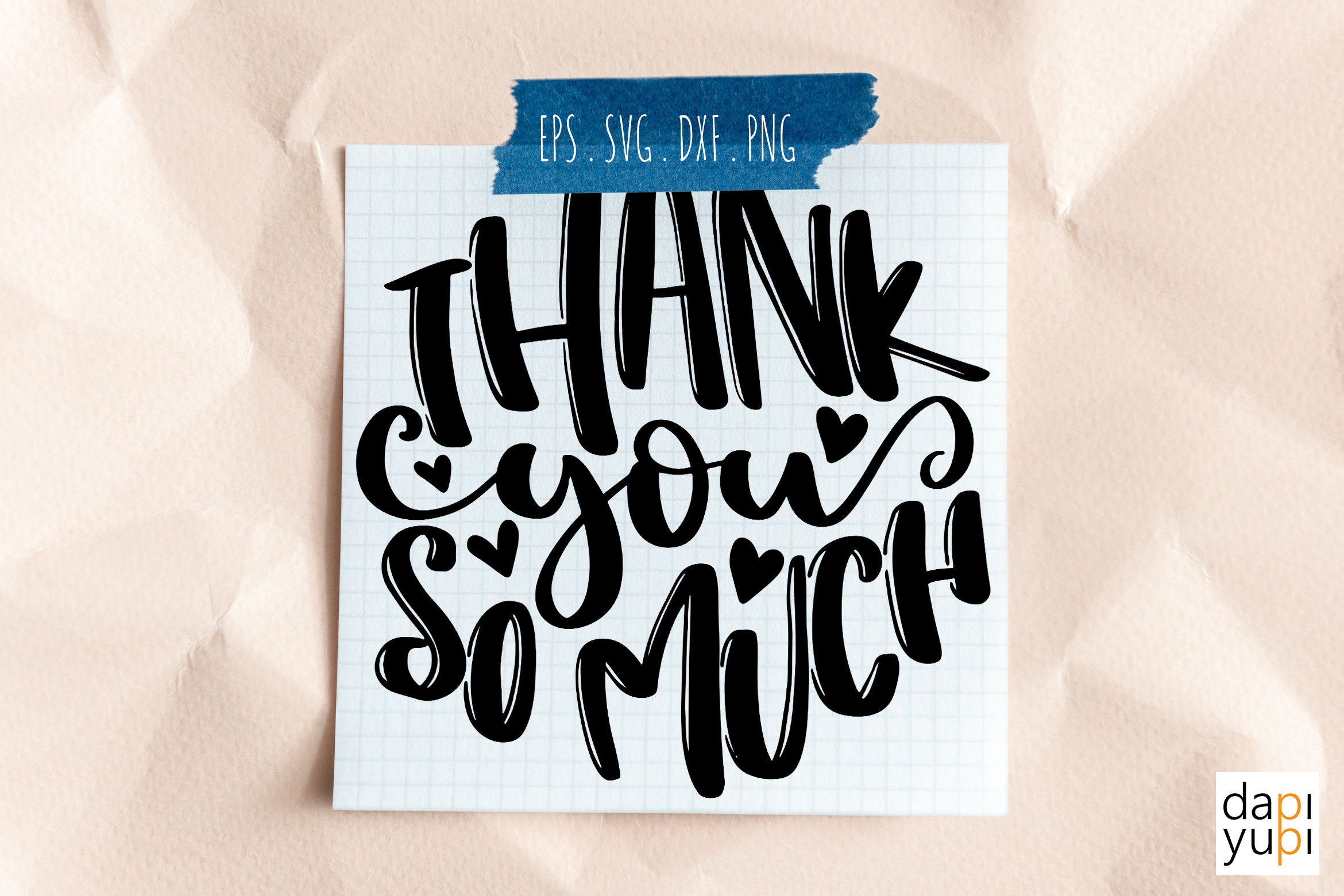 Thank You so Much Round Lettering SVG... SVG File