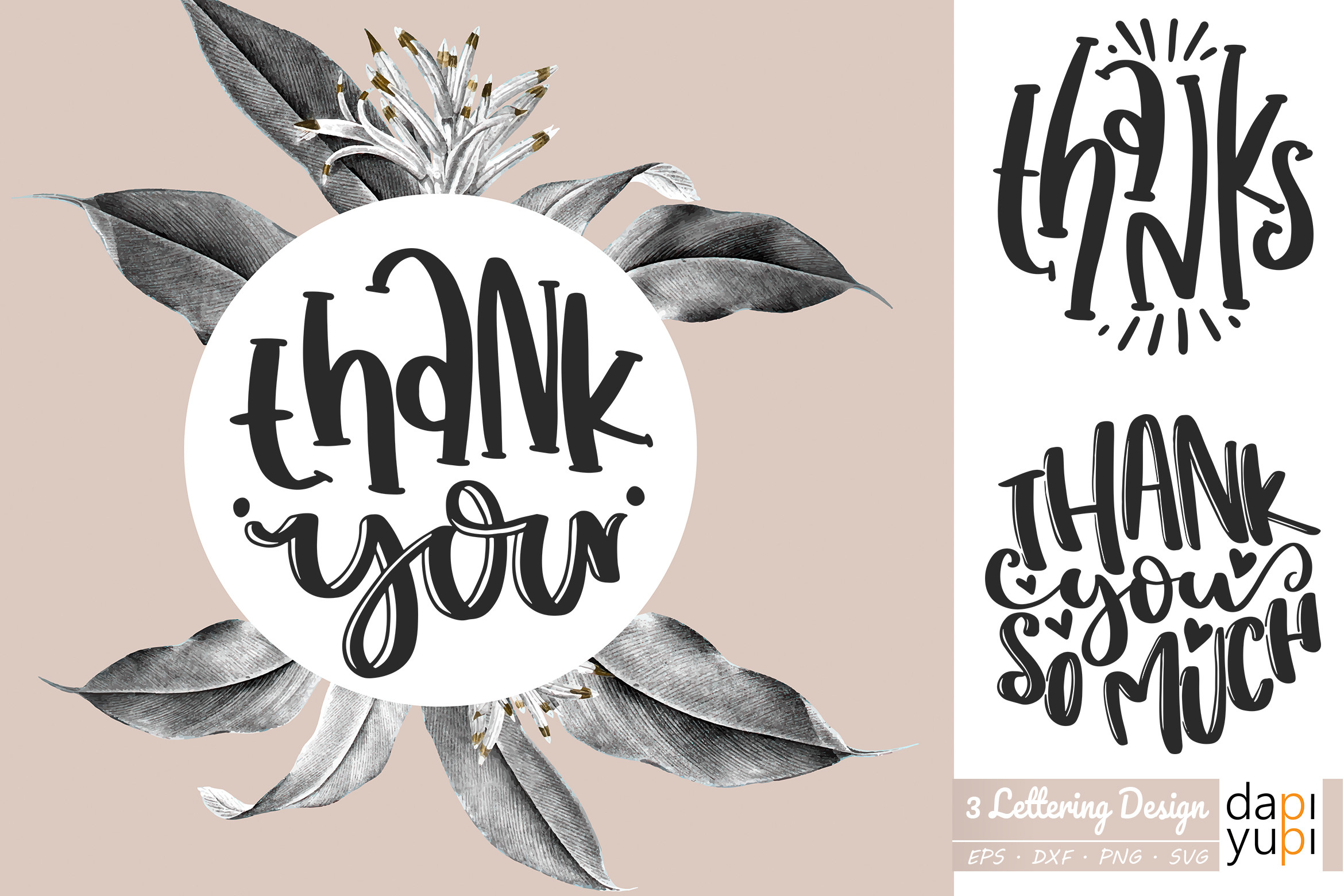 Thanks Thank You Round Lettering SVG File
