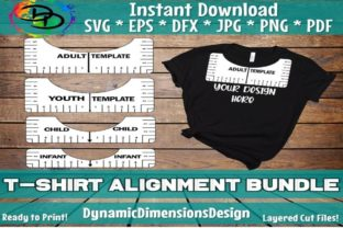 Print on Demand: Tshirt Ruler Alignment Tool Graphic Print Templates By dynamicdimensions