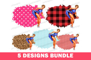 Vintage Sublimation Clipart Pinup Girl Graphic Backgrounds By 247DigitalDesigns