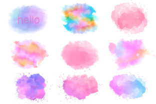 Watercolor Splash Clipart Graphic Illustrations By moshiclipart