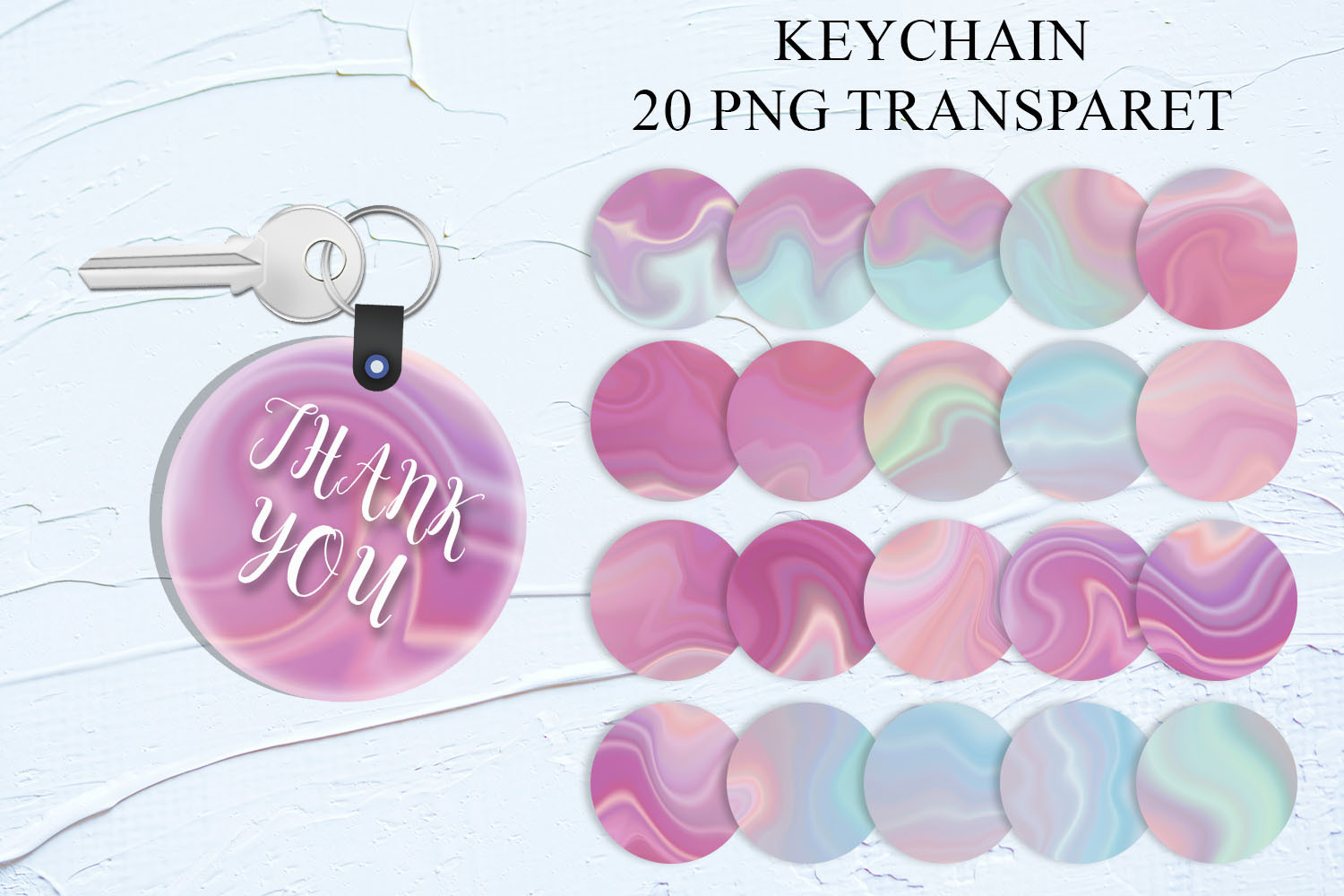 Marble Keychain Sublimation SVG File