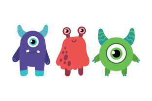 Cute Monster Set Designs & Drawings Craft Cut File By Creative Fabrica Crafts