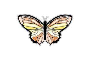 Butterfly Animals Craft Cut File By Creative Fabrica Crafts 1