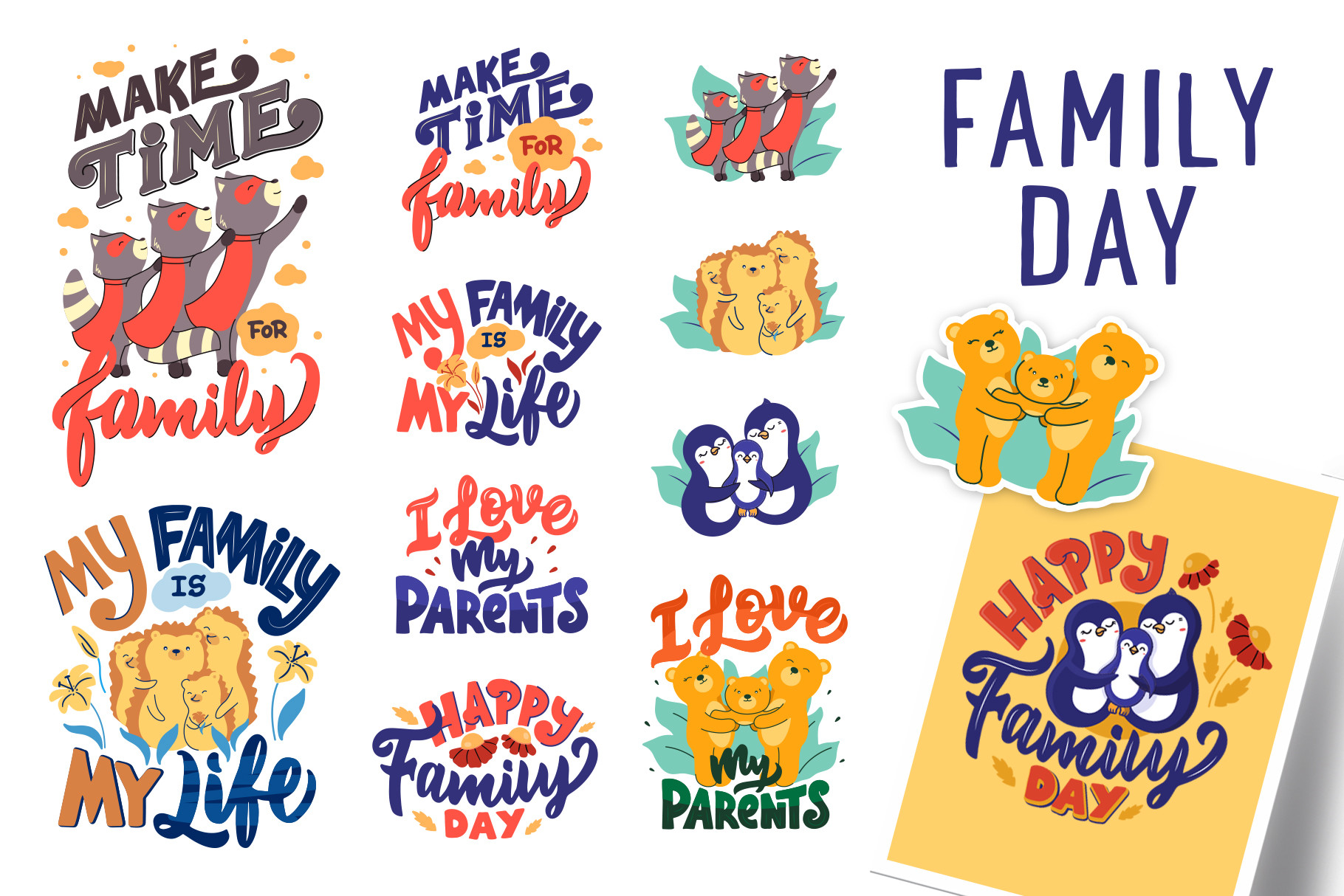 Animal Family T-shirt. Funny Quotes SVG File