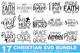 Print on Demand: Christian Bundle Graphic Print Templates By Designdealy