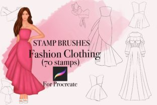 Clothing Stamp for Procreate Graphic Brushes By Black Satan Draws