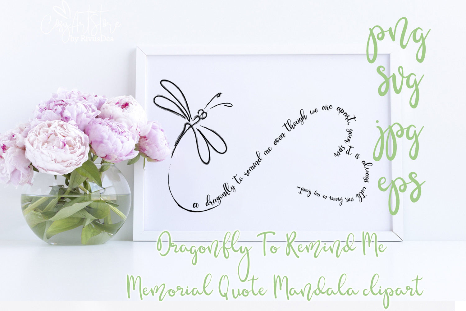 Dragonfly to Remind Me SVG File
