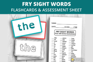 Print on Demand: Fry Sight Words First 100 Graphic PreK By PrintablesCC 1