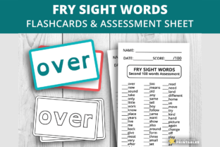 Print on Demand: Fry Sight Words Second 100 Graphic Teaching Materials By PrintablesCC