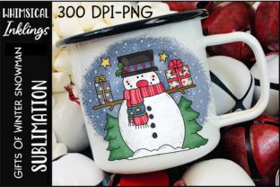 Gifts of Winter Snowman Graphic Illustrations By Whimsical Inklings