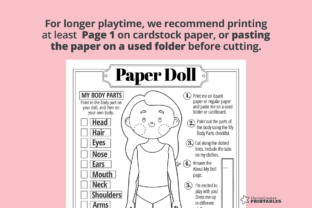 Print on Demand: Jane Coloring Paper Doll Graphic Teaching Materials By PrintablesCC 4