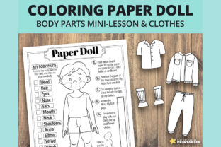 Print on Demand: Johnny Coloring Paper Doll Graphic Teaching Materials By PrintablesCC 1