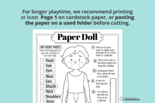 Print on Demand: Johnny Coloring Paper Doll Graphic Teaching Materials By PrintablesCC 4