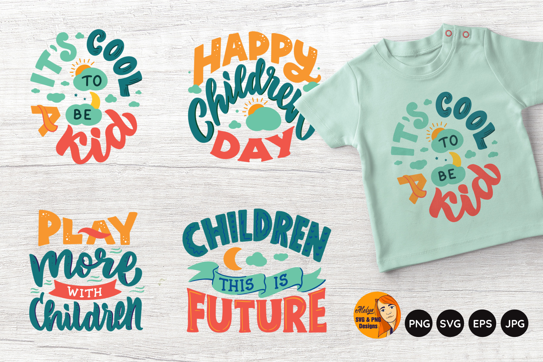 Kid Life. Funny Baby Quotes. Children SVG File