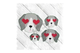 Love Eyes Pup Dogs Embroidery Design By Yours Truly Designs 1
