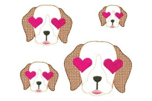 Love Eyes Pup Dogs Embroidery Design By Yours Truly Designs 2
