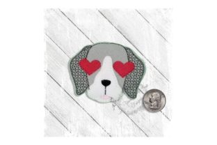 Love Eyes Pup Dogs Embroidery Design By Yours Truly Designs 5