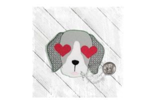 Love Eyes Pup Dogs Embroidery Design By Yours Truly Designs 6