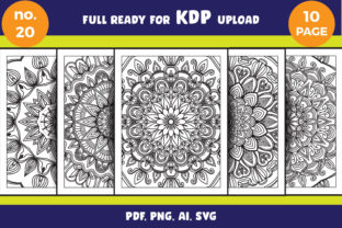 Print on Demand: Mandala Coloring Page Svg Bundle Adult Graphic Coloring Pages & Books Adults By NGISED 1