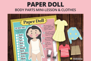 Print on Demand: Mary Paper Doll Graphic Teaching Materials By PrintablesCC