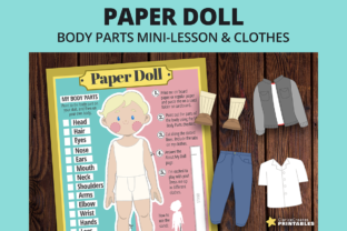 Print on Demand: Paper Doll Louie Graphic Teaching Materials By PrintablesCC