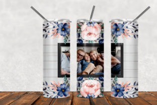 Picture Frame 20oz Skinny Tumbler Graphic Patterns By Army Custom