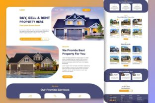 Print on Demand: Real Estate Landing Page WebsiteTemplate Graphic Landing Page Templates By themesfusion