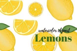 Print on Demand: Watercolor Summer, Lemons Clipart Graphic Illustrations By ndigitalsudio