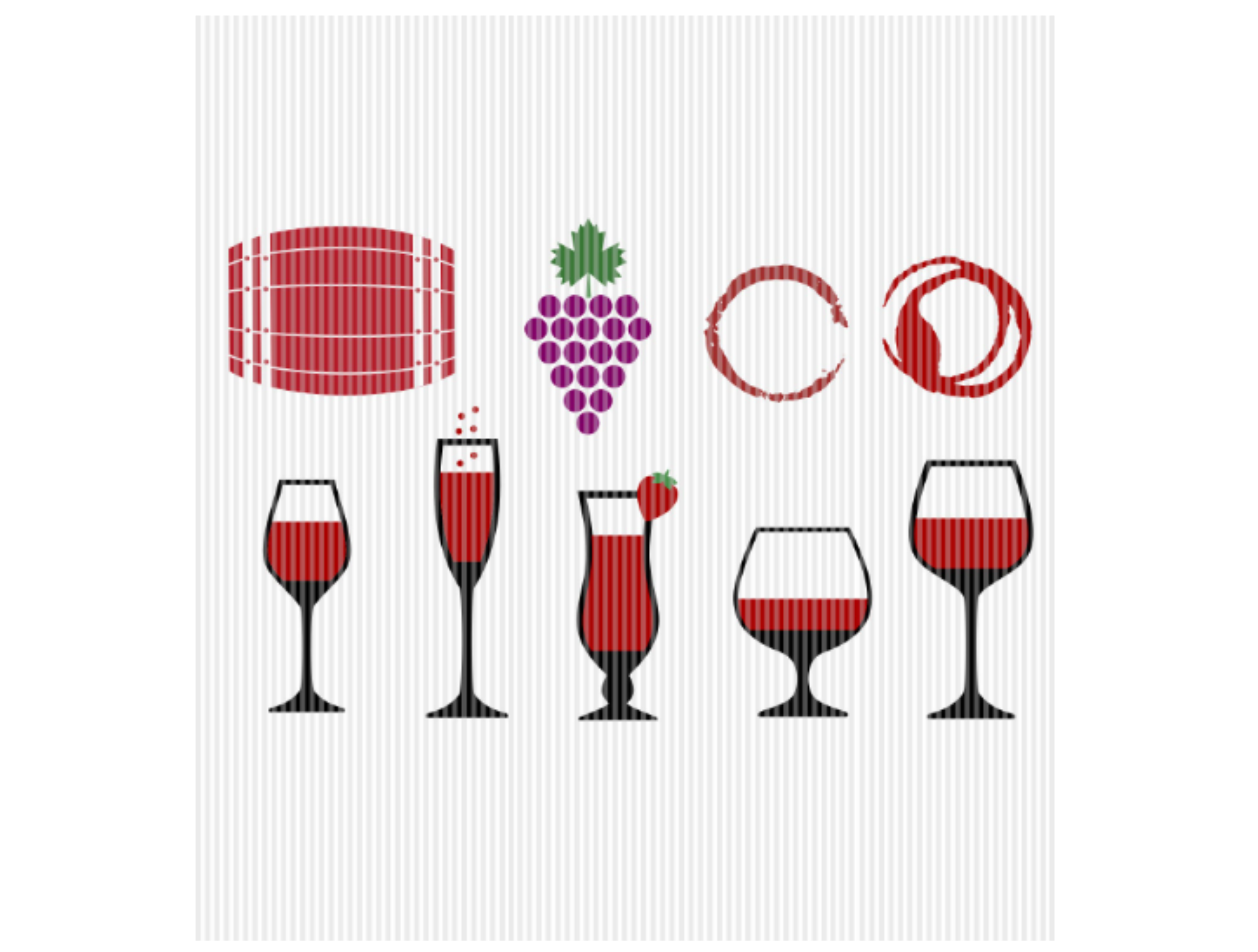 Wine Glasses Red Wine Stains Graphic SVG File