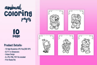 Print on Demand: Zoo Animal Coloring Pages for KDP Graphic Coloring Pages & Books Kids By fuad333