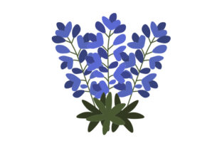 Bluebonnets Nature & Outdoors Craft Cut File By Creative Fabrica Crafts