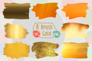 Print on Demand: Brush Gold Graphic Brushes By Kiang Stock Digiart
