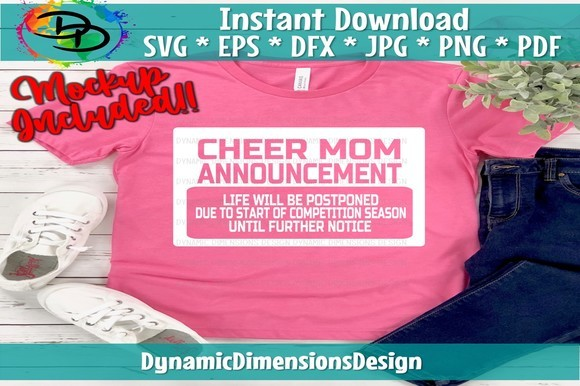 Cheer Mom Announcement SVG File