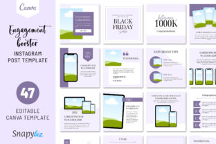 Print on Demand: Engagement Booster Instagram Template Graphic Presentation Templates By SnapyBiz