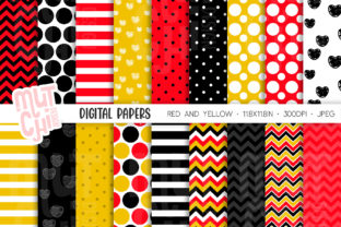 Favorite M Mouse 01 Digital Papers Graphic Backgrounds By Mutchi Design
