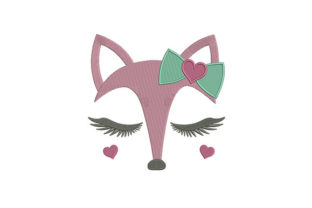 Fox Face Digital Baby Animals Embroidery Design By DigitEMB