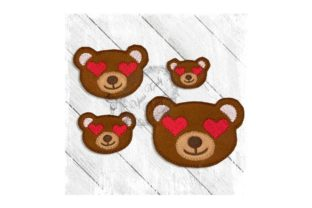 Love Eyes Teddy Teddy Bears Embroidery Design By Yours Truly Designs